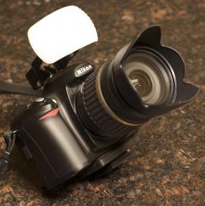 Nikon D50 with on-board flash diffuser.